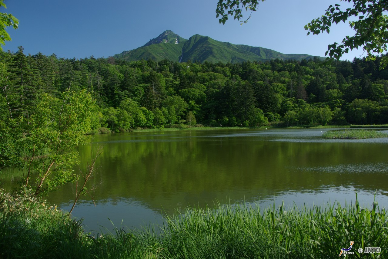 Himenuma Pond and Mt. Rishiri